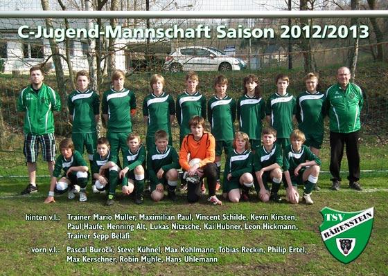 C-Jugendmannschaft 2012/2013